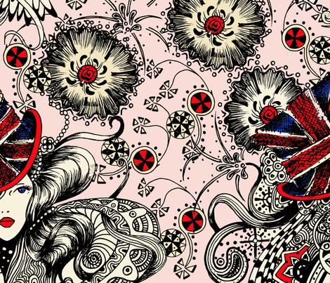 British_hat fabric by jijisun on Spoonflower - custom fabric