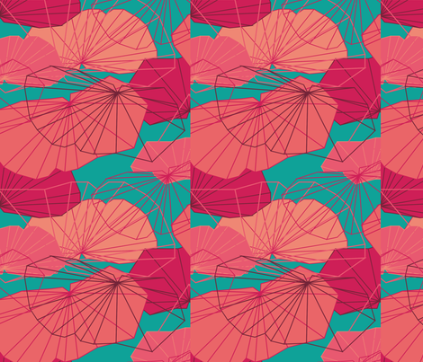 &quot;Once I was beautiful poppy&quot; fabric by larako on Spoonflower - custom fabric