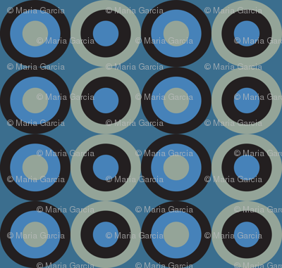 blue snake circles
