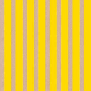 Heart Motif yellow stripes