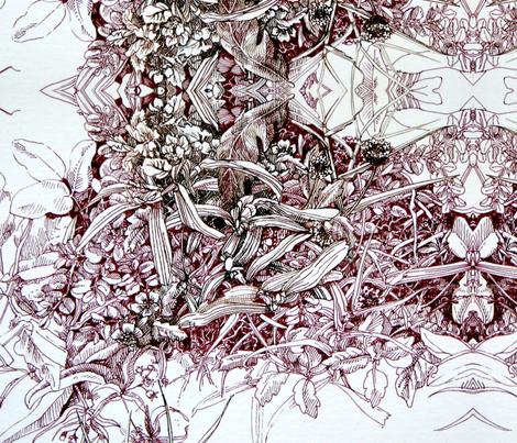 Florida Lawn 4 fabric by magicalumbrella on Spoonflower - custom fabric