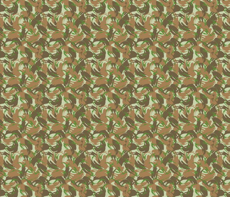 Sixth Scale British DPM Hybrid PECOC Camo fabric by ricraynor on Spoonflower - custom fabric