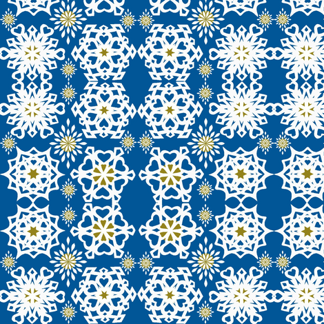 Snowflake Lace 2 fabric by robin_rice on Spoonflower - custom fabric