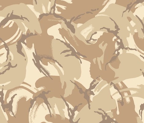 British DPM 4 Color Desert Camo fabric by ricraynor on Spoonflower - custom fabric