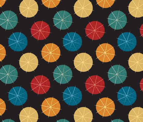 cocktail umbrellas fabric by kociara on Spoonflower - custom fabric