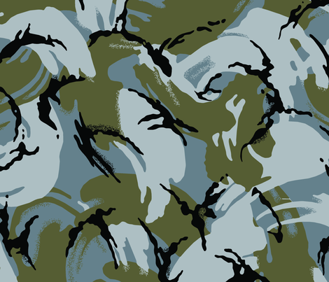 British DPM Urban Camo fabric by ricraynor on Spoonflower - custom fabric