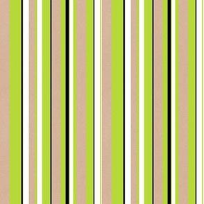 Heart Motif stripes white green
