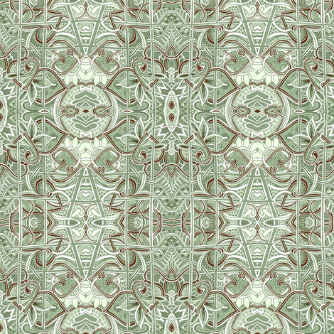 Green and Brown Tangled Tango fabric by edsel2084 on Spoonflower - custom fabric