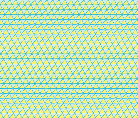 Triangles Blue &amp; Yellow fabric by curious_nook on Spoonflower - custom fabric