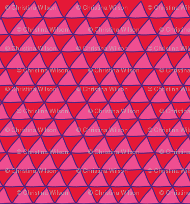 Triangles Red Pink & Purple