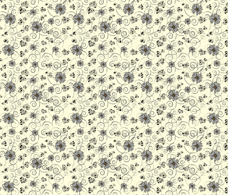 hearts and daisies fabric by kociara on Spoonflower - custom fabric