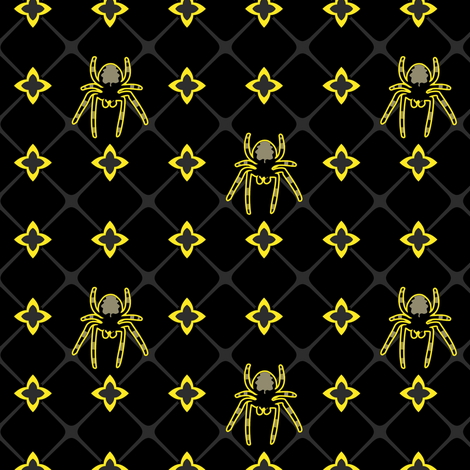 Spiders fabric by sugarxvice on Spoonflower - custom fabric