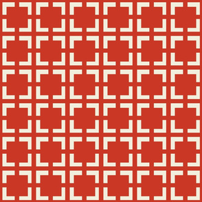 Moroccan Solid Square in Red Dawn