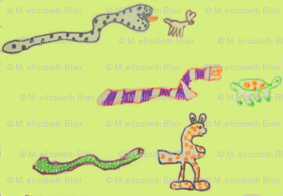 Chris snakes green background