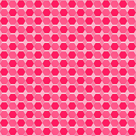 Hexagon Quilt Hot Pink