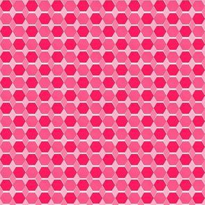 Hexagon Quilt Hot Pink