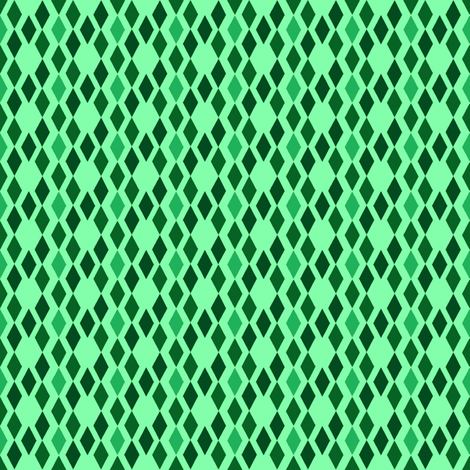 Green Diamonds fabric by mahrial on Spoonflower - custom fabric