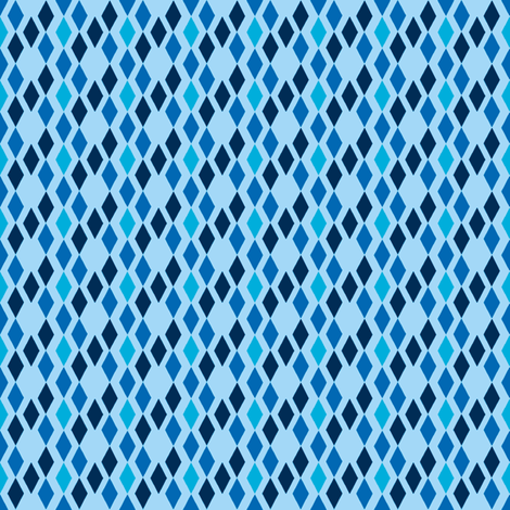 Blue Diamonds fabric by mahrial on Spoonflower - custom fabric