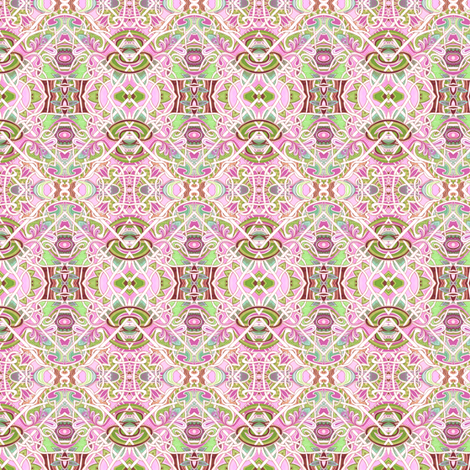 At the Intersection of Pink and Spade fabric by edsel2084 on Spoonflower - custom fabric