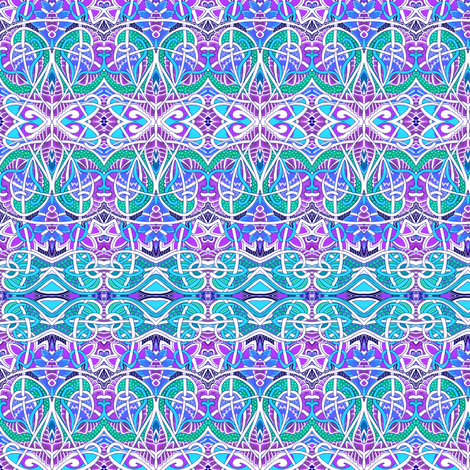 Tickled to be Turquoise fabric by edsel2084 on Spoonflower - custom fabric