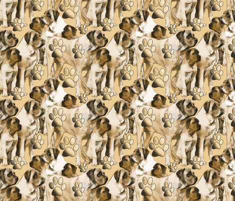 Mastiff Family fabric
