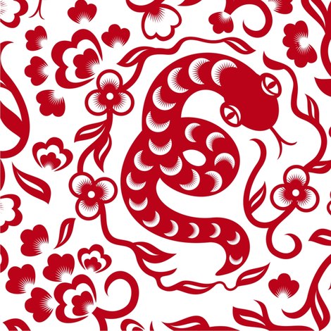 chinese snake fabric by anastasiia-ku on Spoonflower - custom fabric