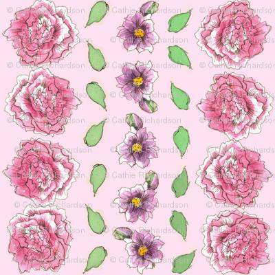 Pink Carnation Stripe
