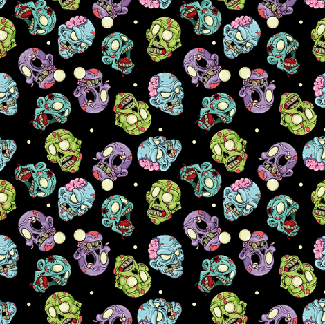 Head Race Black fabric by sugarxvice on Spoonflower - custom fabric