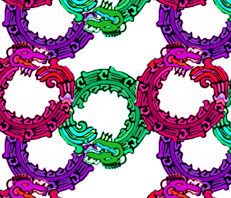 Mayan_snakes fabric by m__elizabethblair on Spoonflower - custom fabric