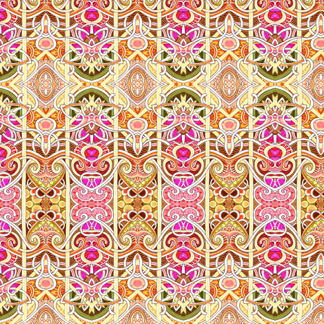 Zig Zag Behind Bars (cheerful colored abstract vertical stripe) fabric by edsel2084 on Spoonflower - custom fabric