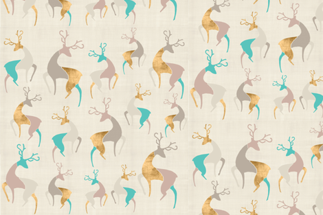 deers-n-shimmer fabric by firki on Spoonflower - custom fabric