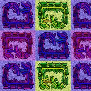 four_mayan_snakes