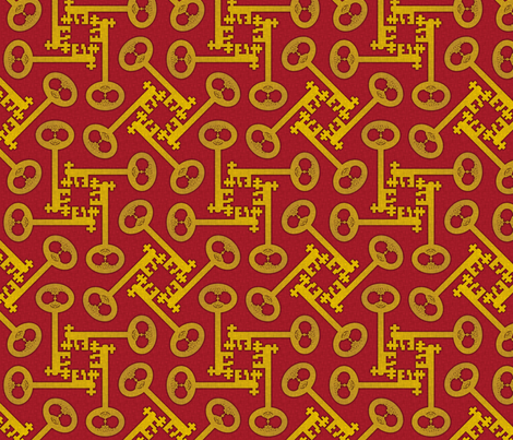 key_rotations_red fabric by glimmericks on Spoonflower - custom fabric