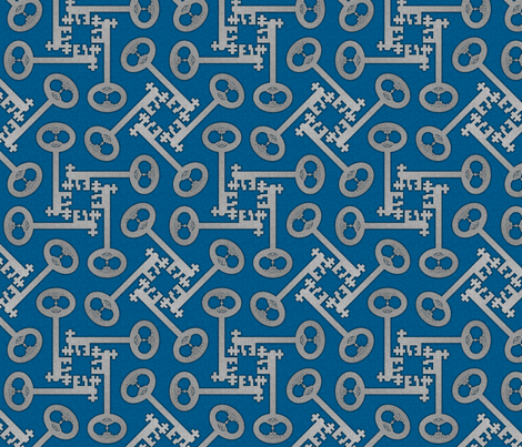 key_rotations_blue fabric by glimmericks on Spoonflower - custom fabric