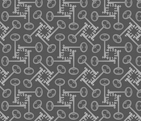 key rotations silver fabric by glimmericks on Spoonflower - custom fabric
