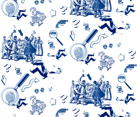 Your Clues. fabric by whimzwhirled on Spoonflower - custom fabric