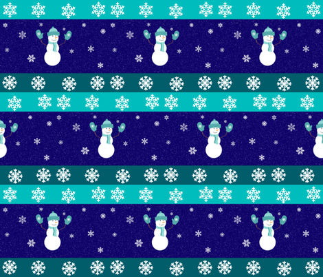 SNOWMAN IN A BLIZZARD fabric by bluevelvet on Spoonflower - custom fabric