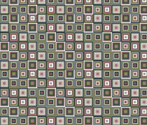 mosaic green fabric by kociara on Spoonflower - custom fabric