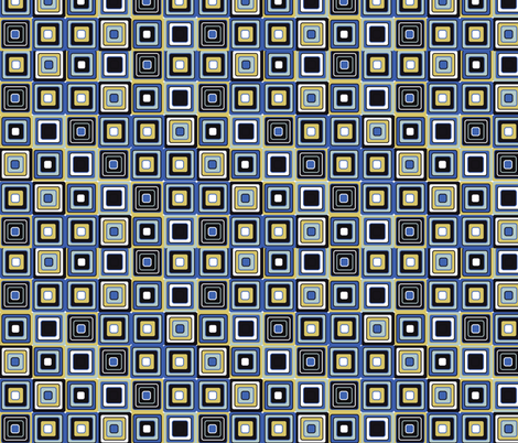 mosaic blue and sepia fabric by kociara on Spoonflower - custom fabric