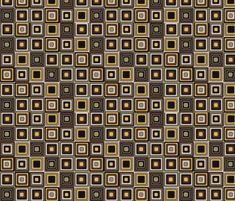 mosaic in brown fabric by kociara on Spoonflower - custom fabric
