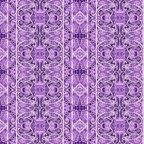 Lavender Lace vertical stripe