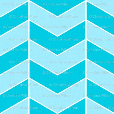 Herringbone Blue (linen finish)