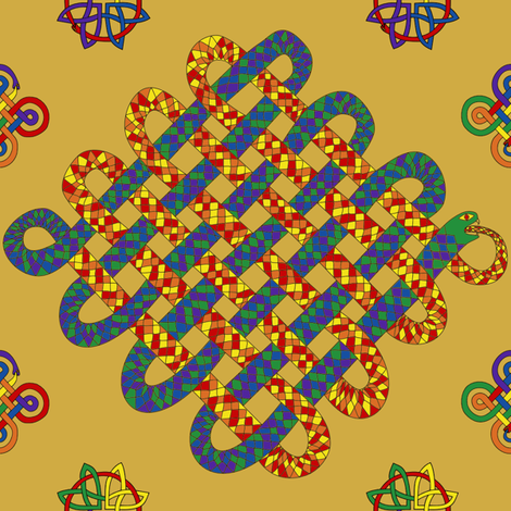 Celtic snake fabric by loopy_canadian on Spoonflower - custom fabric