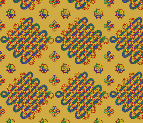 Celtic snake fabric by blondfish on Spoonflower - custom fabric