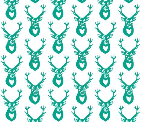 Teal Deer fabric by efolsen on Spoonflower - custom fabric