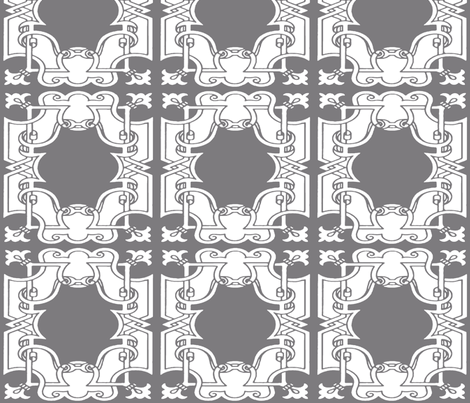 Iron Gates in Steel Gray fabric by fridabarlow on Spoonflower - custom fabric