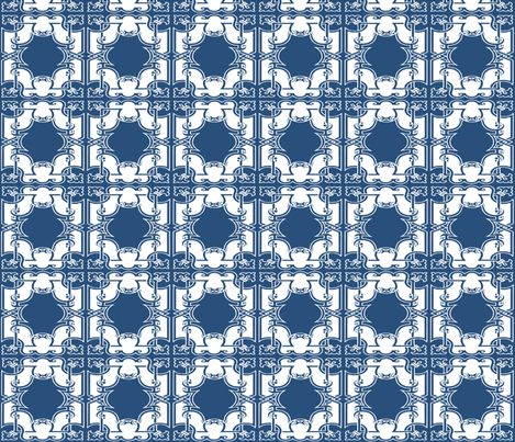 Iron Gates in Royal Indigo fabric by fridabarlow on Spoonflower - custom fabric