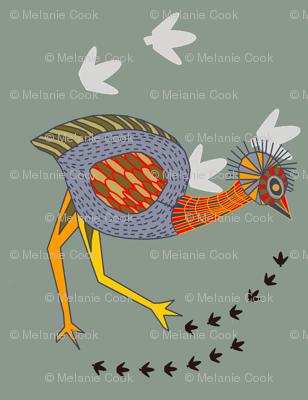 Emu on the plains
