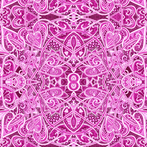 Be Still My Magenta Heart fabric by edsel2084 on Spoonflower - custom fabric