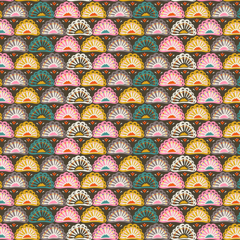 Year of the Snake coordinating fabric - flowers fabric by irrimiri on Spoonflower - custom fabric